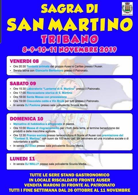 Sagra San Martino Tribano 2019